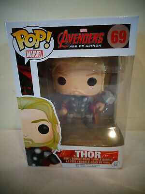 "New Funko Pop Marvel Avengers Thor # 69 4"" Vinyl Figure Bobble Head"