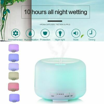 7 LED Humidifier Air Aroma Essential Oil Diffuser Aromatherapy Atomizer 500ML NP