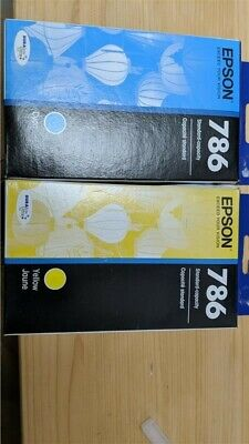 New Genuine Epson #786 Ink Cyan and Yellow