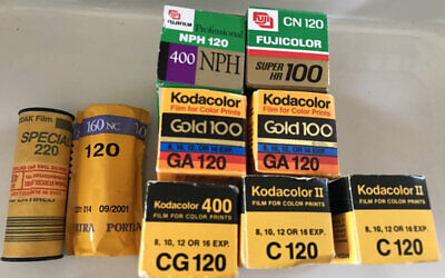 11 rolls Fuji & Kodak color c41 film expired - 120 film