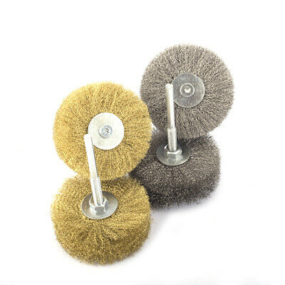 4Pc 80mm Steel&Copper Wire Abrasive Wheel Polishing Brush for Metal Rust Removal