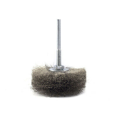 80mm Polished Steel Wire Grinding Brush Wheel For Rotary Electric Abrasive Tool
