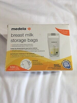 Medela Breast Milk Storage Bags 200 Bags 2 Boxes Ready to Use