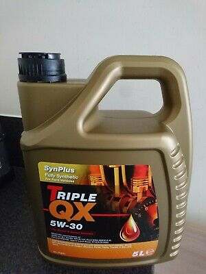 Car Engine Oil Triple QX SynPlus SAE 5W30 Fully Synthetic 5l - Collection only