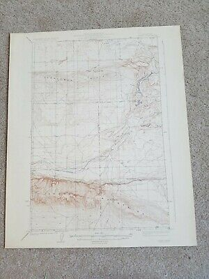 22x29 1923 USGS Topo Map Corfu, Washington Moose Lake Saddle Mountains Frenchman