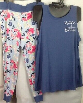 a3213a61a847 NWT Tank & Legging Set Cacique Lane Bryant Knit Cotton Pajama PJ Loungewear