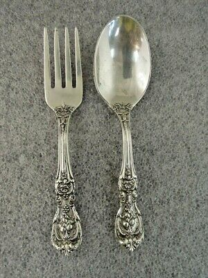 7 PC NEAR CLEAN REED /& BARTON FRANCIS I STERLING FLATWARE SET 1 SETTING HEAVY