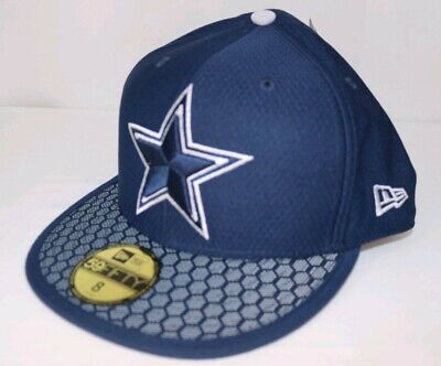 wholesale dealer d3239 0cf02 Dallas Cowboys New Era NFL Sideline On Field 59Fifty Fitted Cap Hat Size 8
