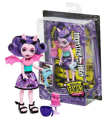 "Monster High Monster Family of Draculaura Fangelica 5.5"" Doll New in Box"