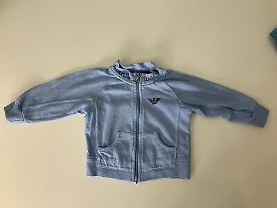 Armani  Baby Blue Jumper Hoodie Age 6m Months Gc