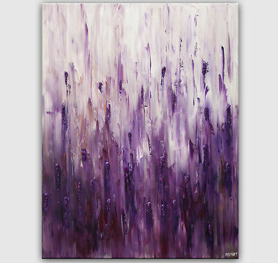 modern purple abstract painting sparkle abstract wall art by Osnat