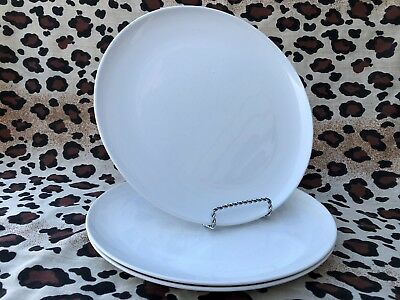 Corning Centura White Coupe Large Dinner Plates Set Of 3