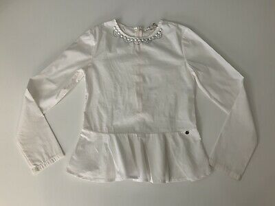Miss Grant White Blouse Shirt Age 8 Years Size 34 Vgc Long Sleeve