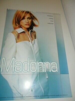 Madonna 1999 Calendar Kalender Calendario Calendrier Photo Photos