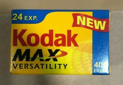 Kodak Max Versatility 400 Film 24 Exposures 35mm Color 1 Sealed Roll New-Expired