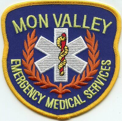 MON VALLEY PENNSYLVANIA PA Emergency Medical Services EMS FIRE PATCH