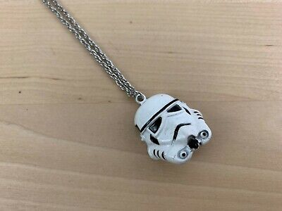 Star Wars 1977 Stormtrooper Vintage Metal Necklace with Pendant 20th Century
