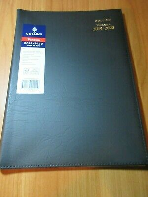 1 x Black 2019 2020 Financial Year Diary Collins Vanessa A4 Week to View  WTV FY
