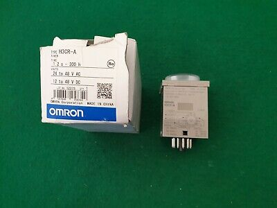 Omron H3CR-A Timer Relay 11 Pin  12 - 48 Volt 1.2 Sec - 300 Hrs