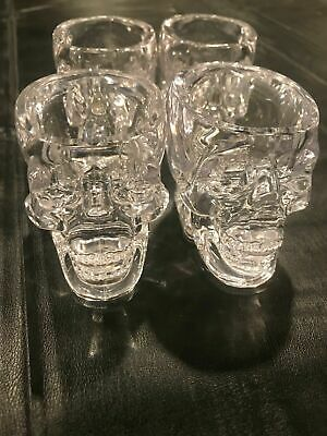 Genuine Crystal Head Vodka Skull Shot Glass 4 PACK NEW