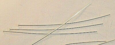 Headpin, silver-plated brass, 2-1/2 inches, 21 gauge x 50