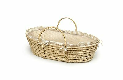 Baby Moses Basket with Liner, Sheet, and Pad Natural/Beige/Ecru