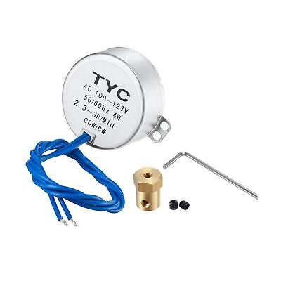 Turntable Synchronous Synchron Motor 50/60Hz AC 100~127V CCW/CW 4W with 7mm F...