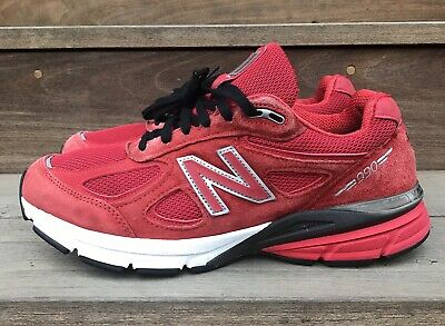 check out 14624 d8838 New Balance 990 990v4 Men s Sz 9.5 Running Walking USA M990RD4 Red Suede