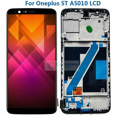 For Oneplus 5T A5010 LCD Display Touch Screen Glass Digitizer Assembly w/ Frame