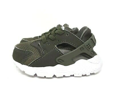 01806a7486 Nike Huarache Run Athletic Sneakers Toddler Girls Boys Size 5 GUC Army Green