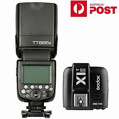 AU Godox TT685S TTL HSS 2.4G Camera Flash Speedlite + X1T-S Transmitter for Sony