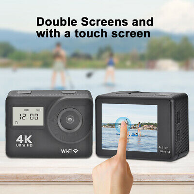 4K FHD 1080P Dual Touch Screen Sport Camera WiFi Action Camcorder Remote Control
