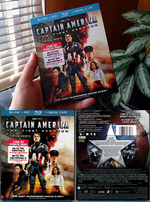 2-Disc Blu-ray+DVD CAPTAIN AMERICA THE FIRST AVENGER +SLIPCOVER Marvel OOP A/B/C