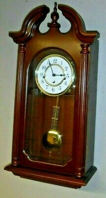 Clean Howard Miller Westminster Chime Wall Clock 341-021A Movement Working