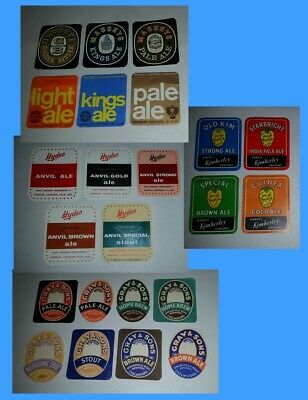 Bulk lot  23 x brewery beer different bottle labels Ales, Brew, Stouts & Bitters