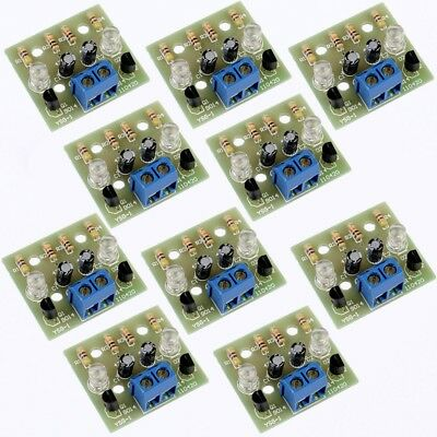 10pcs Simple Flash Circuit Electronic Production DIY Kits For Welding Practice
