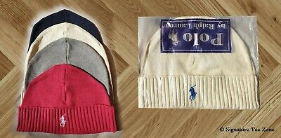 NWT Men's POLO-RALPH LAUREN  Big Pony Cuffed  Beanie Winter Cap Hat !!! ON SALE