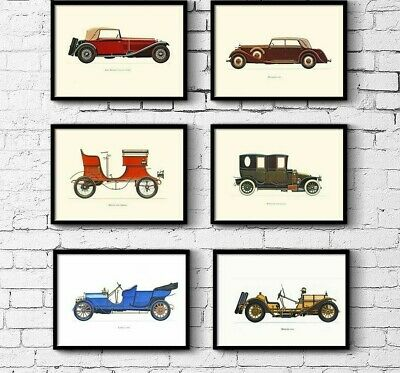 Modern Posters Wall Canvas Car Design Paintings Vintage Style Homeroom Decor Art