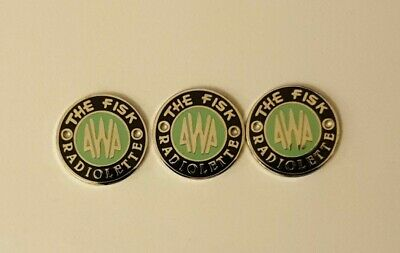 AWA THE FISK RADIOLETTE badges These are the historically correct ones