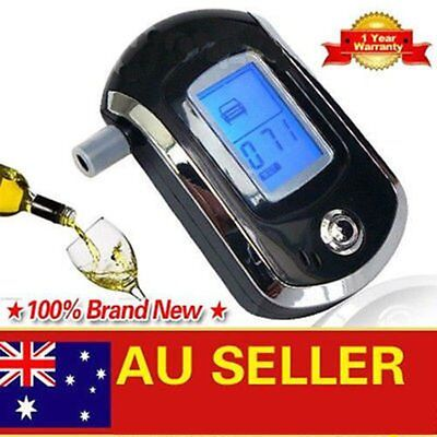 NEW LCD Police Digital Breath Alcohol Analyzer Tester Breathalyzer Audiable qE