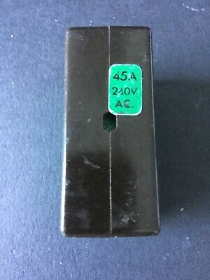 Wylex C45 Cartridge Fuse Complete With Base Shield