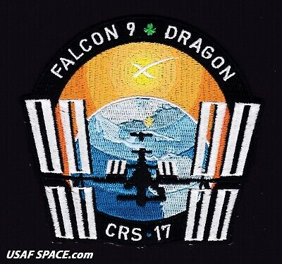 CRS-17 - SPACEX ORIGINAL FALCON-9 DRAGON F-9 ISS NASA RESUPPLY Mission PATCH
