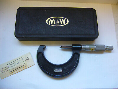 'Moore & Wright' No: 456 Whitworth Screw Thread Micrometer 22-30 TPI    (4251)