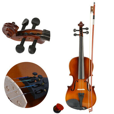 3/4 Size Profesional Beginners Acoustic Violin Set with Case Bow Rosin Bridge
