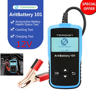 TOPDON 12V Battery Tester Analyzer Auto Diagnose Cranking Charging System Tool