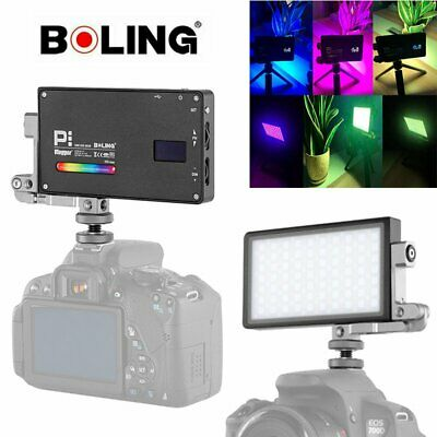 Boling BL-P1 RGB Full Color LED Video Fill Light Dimmable 2500-8500K For Camera