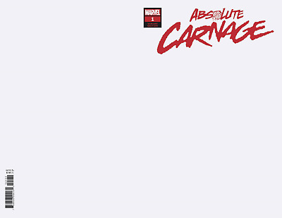 ABSOLUTE CARNAGE #1 BLANK SKETCH COVER Variant 2019 Marvel PRE-SALE