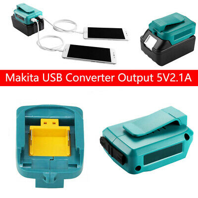 2 USB Port Phone Charger Adapter Li-ion Battery For Makita 18V 14.4V BL1830/1430