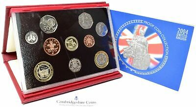 2004 Great British Proof Coin Year Set Deluxe Red Leather Royal Mint Auction