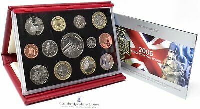 2006 Great British Proof Coin Year Set Deluxe Red Leather Royal Mint Auction